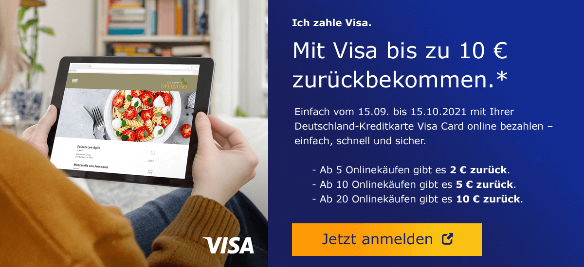 Visa Cashback mit Deutschland-Kreditkarte