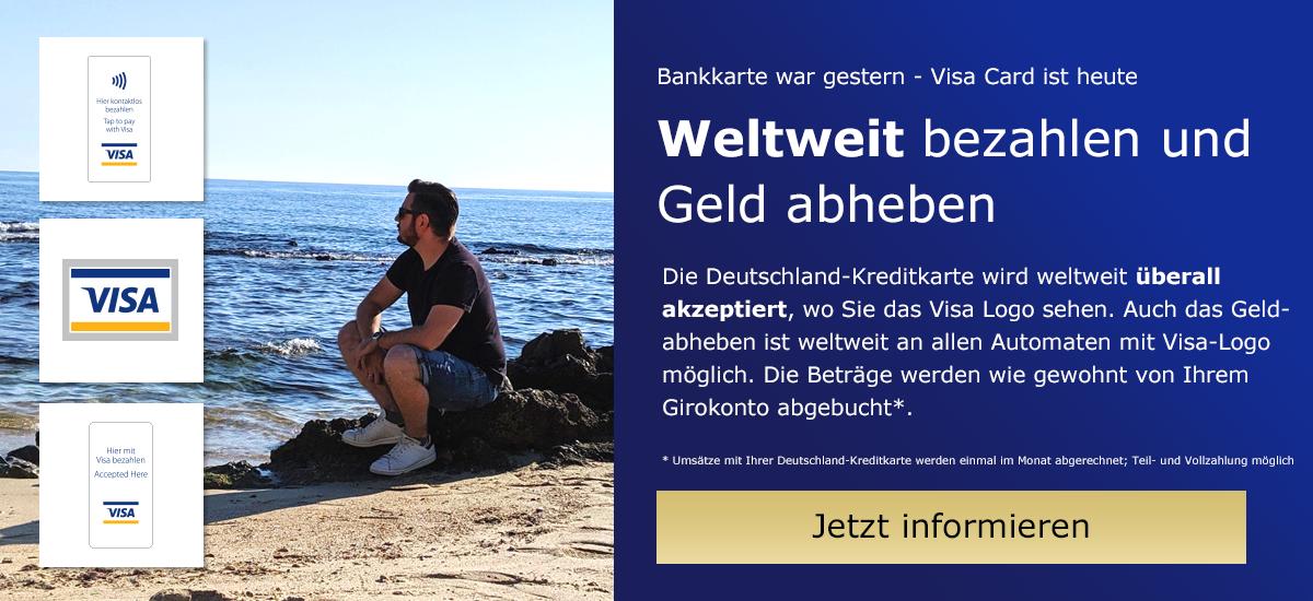 Jetzt wechseln - Visa Kreditarte statt Bankkarte