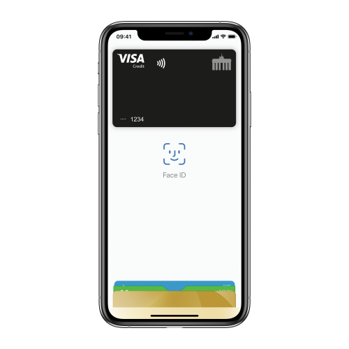 Deutschland-Kreditkarte mit Apple Pay