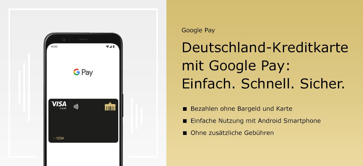 Deutschland-Kreditkarte mit Google Pay