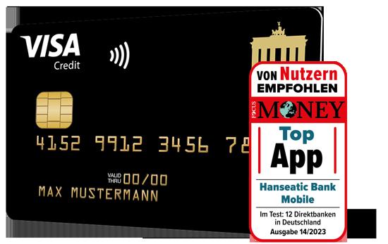 Deutschland-Kreditkarte Gold Visa Card
